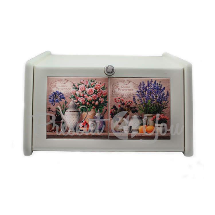 Хлебница «Прованс.Розы» 36x21x19 см. (262-0010W)