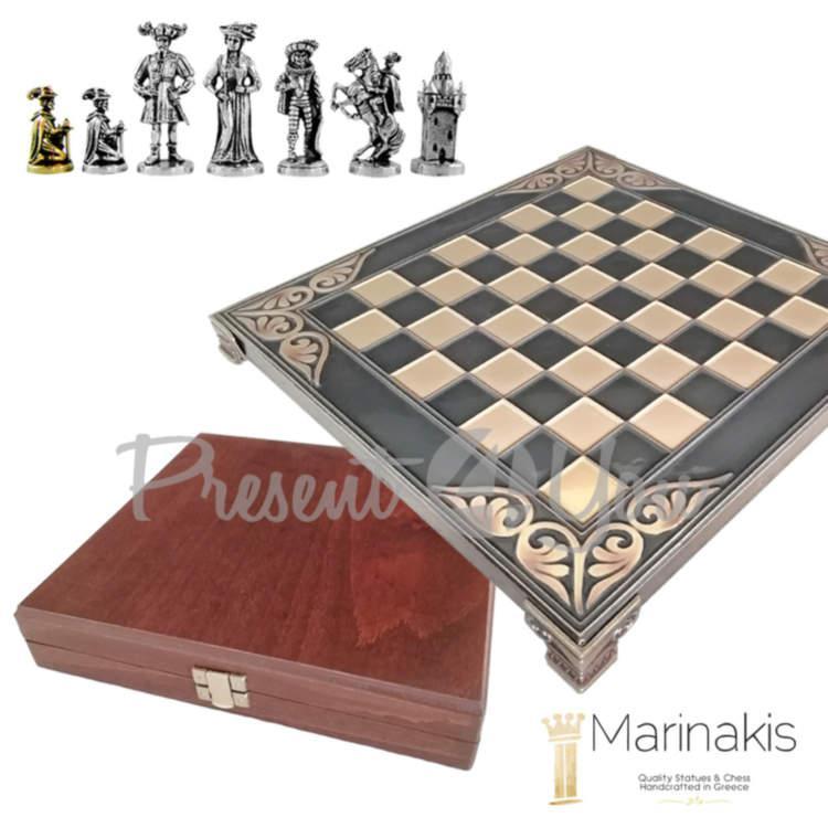 Шахматы Marinakis «Рококо-Средневековая Франция»,20,5х20,5 см, черный (086-2100BR)