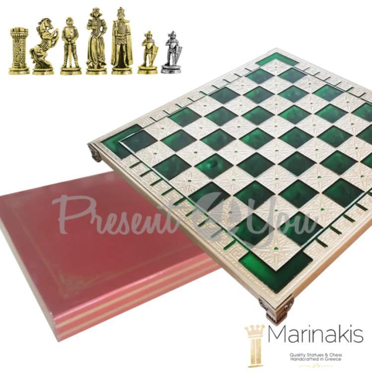 Шахматы Marinakis «Мария Стюарт, Средневековая Англия», 32х32 см,зеленый (086-3511KG)