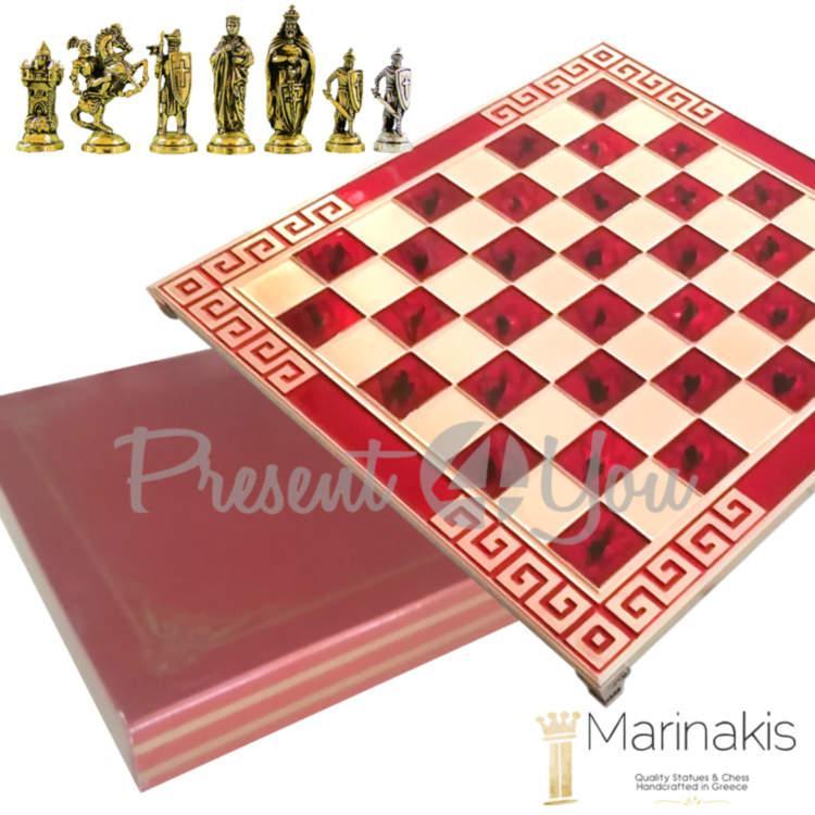 Шахматы Marinakis «Крестоносцы», 45х45 см, красные (086-4504KR)