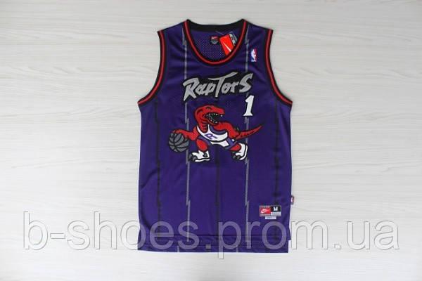 Мужская баскетбольная майка Toronto Raptors retro (Tracy McGrady) Purle