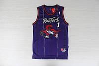 Мужская баскетбольная майка Toronto Raptors retro (Tracy McGrady) Purle, фото 1