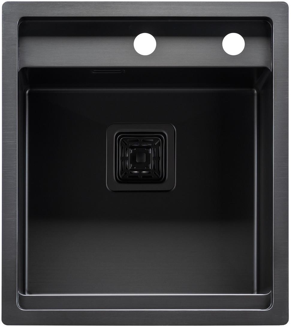 """Мойка кухонная ТМ """"МойДом"""" 450/510/220 из нержавеющей стали (PVD black)"""