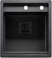 """Мойка кухонная ТМ """"МойДом"""" 450/510/220 из нержавеющей стали (PVD black), фото 1"""