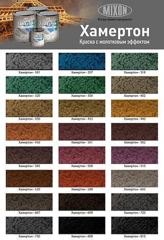 Краска молотковая (с молотковым эффектом) фиолетовая MIXON ХАМЕРТОН 510 0,75л, фото 2