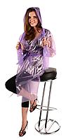 Плащ дождевик тонкий сплошной Фиолетовый