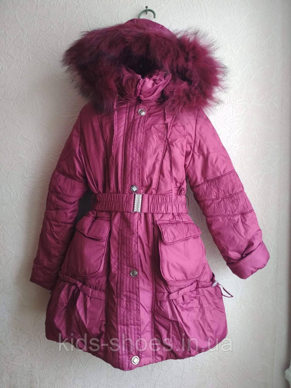 Пальто-куртка удлиненная для девочки 6-10 лет