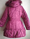 Пальто-куртка удлиненная для девочки 6-10 лет, фото 4