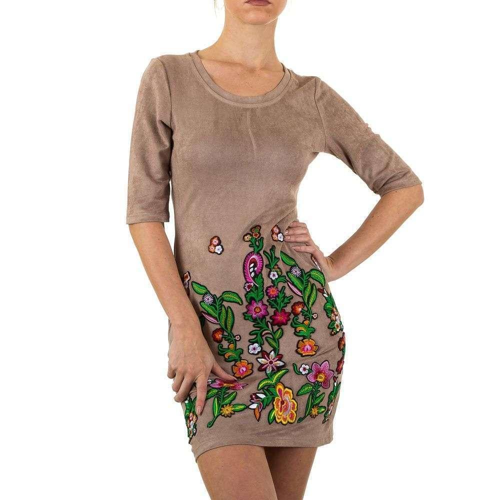 Женское платье Noemi Kent Paris - хаки - KL-WJ-7678-хаки