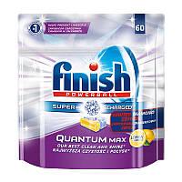 Таблетки для посудомоечной машины Finish Quantum Max Лимон, 60 шт.