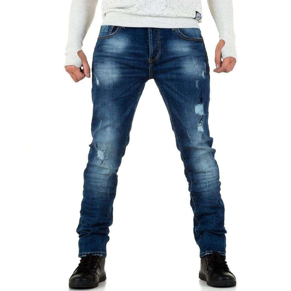 Потертые мужские джинсы Black Ace (Европа), Синий