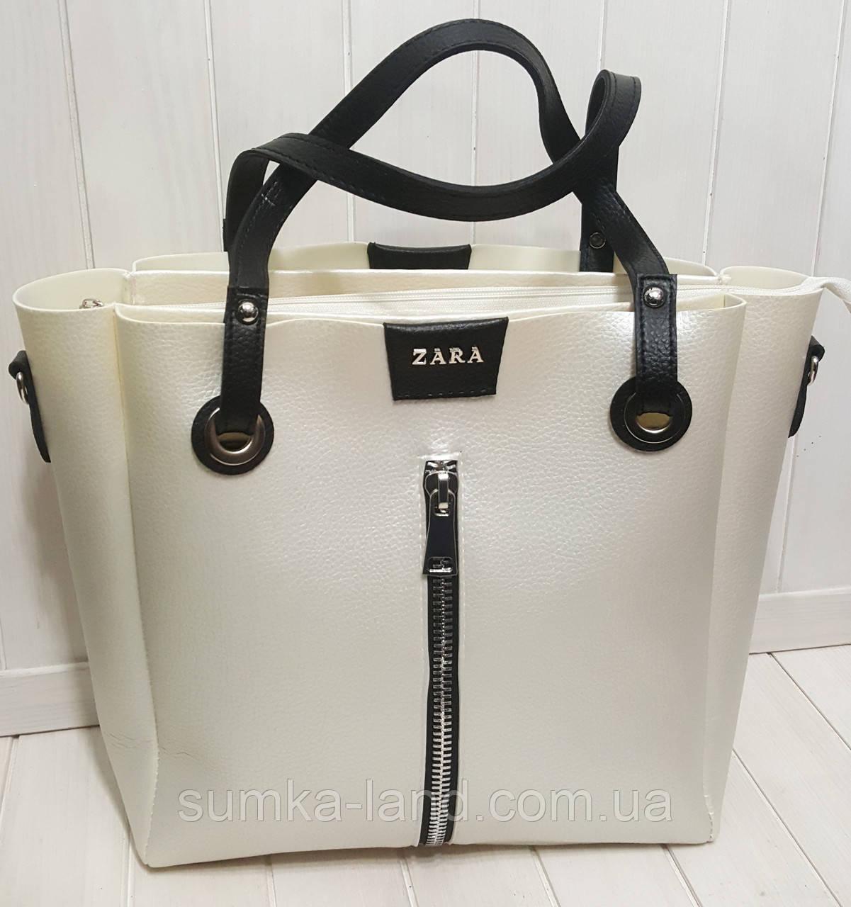9cbb2675fac1 Женская перламутровая сумка Zara из эко-кожи 31*30 см, цена 427 грн ...