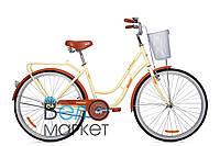 "Велосипед AIST AVENUE 1.0 26"" колесо ( Бежево-коричневый) / с корзиной / Женский АИСТ Авеню"