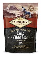 Carnilove Lamb & Wild Boar 1.5 kg корм ягненок и дикий кабан для взрослых собак