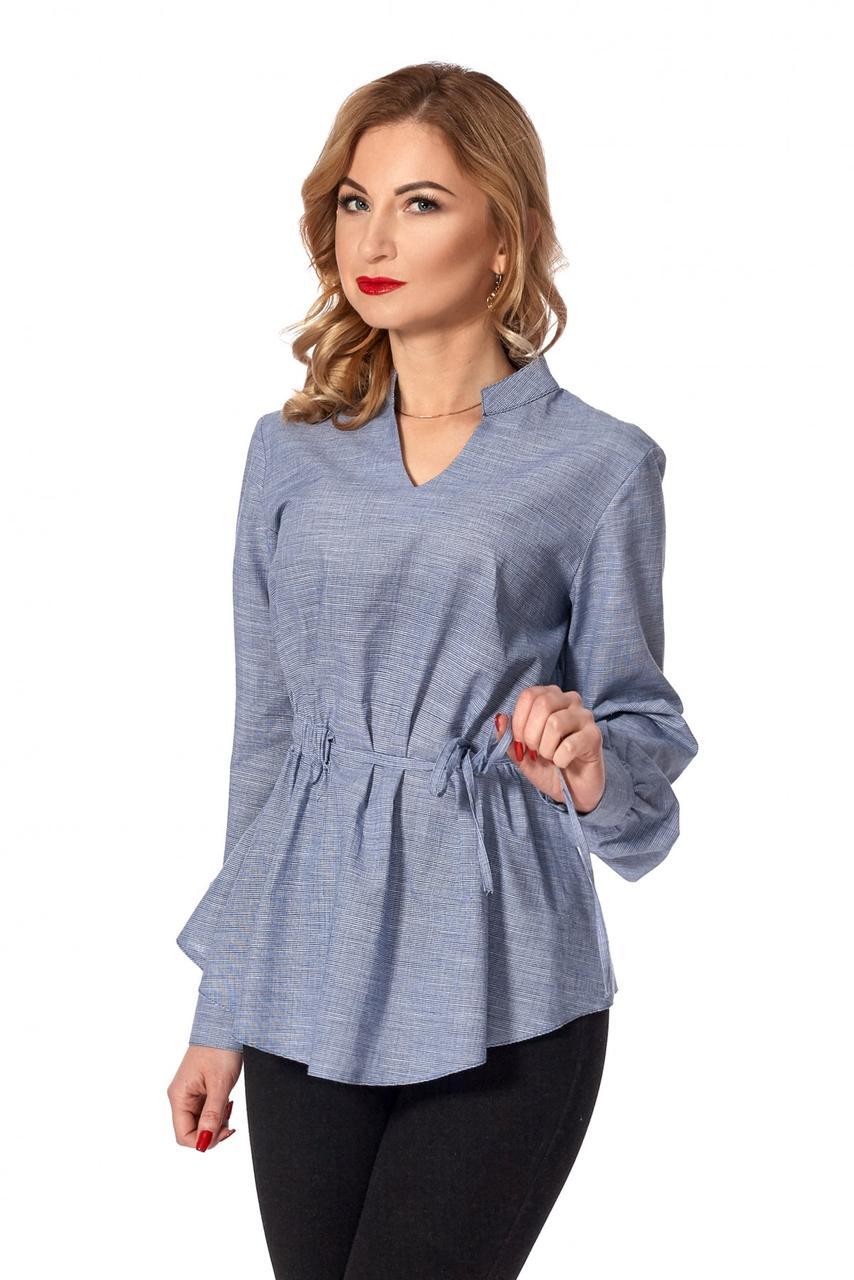 Красивая оригинальная романтическая женская блузка с длинным рукавом.