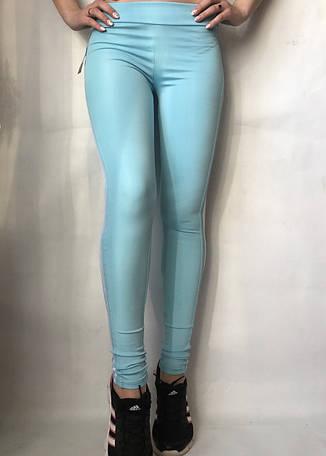 Женские спортивные лосины (легинсы) норма №50 голубой, фото 2