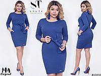 Платье большого размера / двунитка / Украина 7-2-623, фото 1