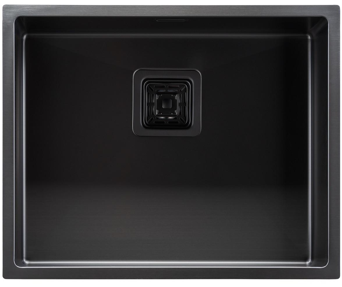 """Мойка кухонная под столешницу ТМ """"МойДом"""" 440/540/220 из нержавеющей стали (PVD black)"""
