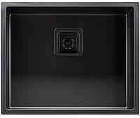 """Мойка кухонная под столешницу ТМ """"МойДом"""" 440/540/220 из нержавеющей стали (PVD black), фото 1"""