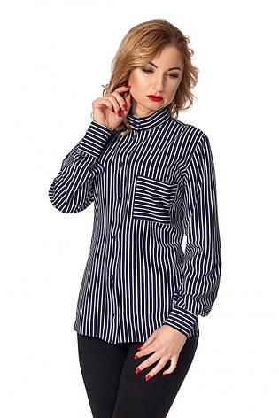 Модная интересная деловая блуза-рубашка с принтом р.42, фото 2
