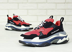 Мужские и женские кроссовки Balenciaga Triple S (Многослойная подошва - ТОП КАЧЕСТВО!), фото 3