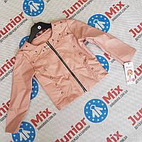 Детская весенняя куртка для девочек из кожзама оптом, фото 1