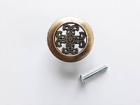 Мебельная ручка кнопка, античная медная ручка Belwith, мелкий узор
