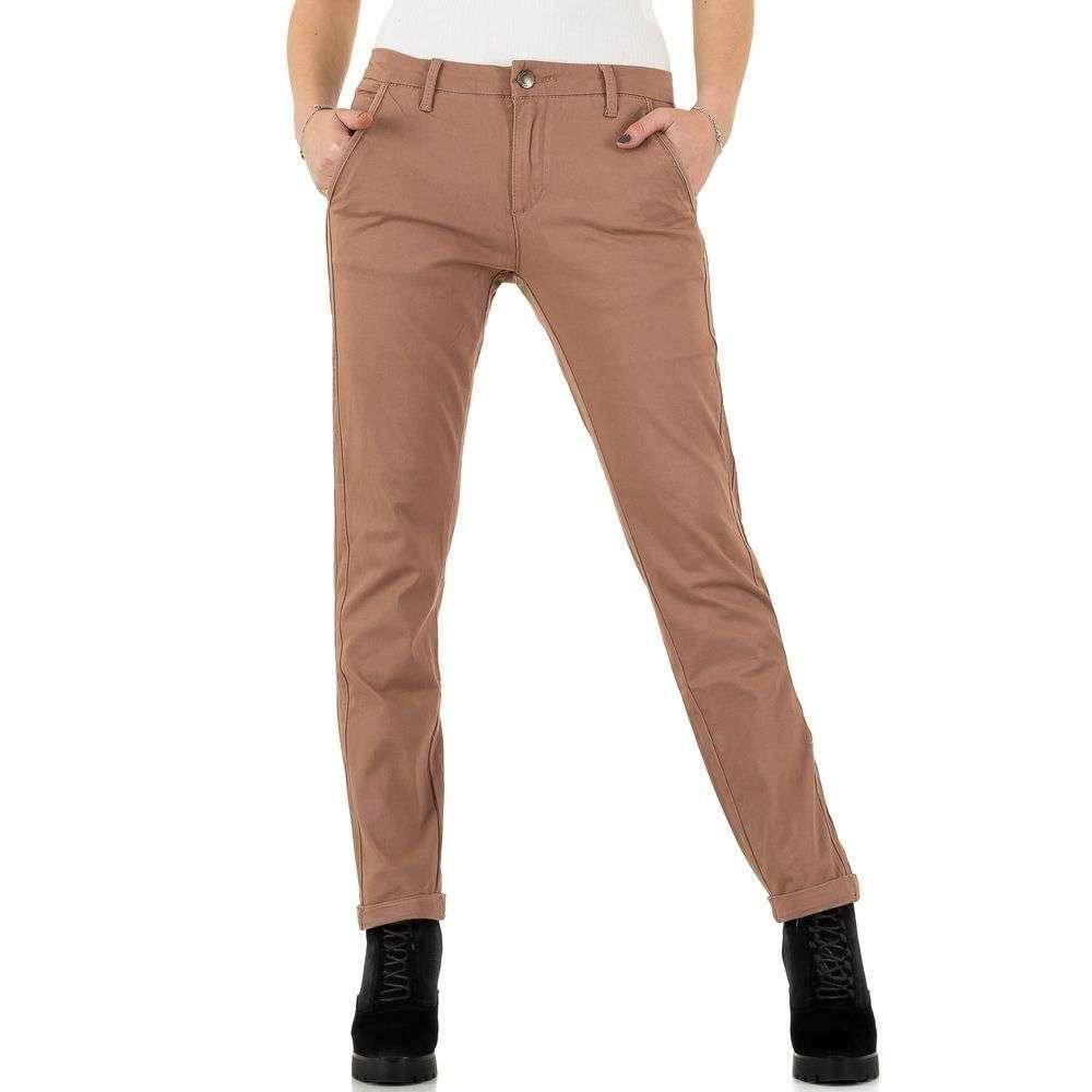 Женские брюки от Place Du Jour - nude - KL-J-92979-ню