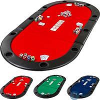 Покерний стіл-накладка. Стіл для покера розкладний, фото 1