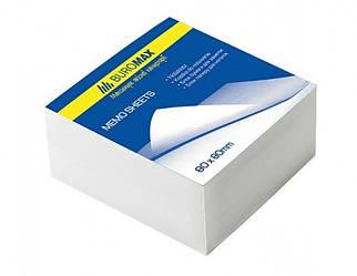 Блок белой бумаги для заметок 80х80х50мм, склеенный