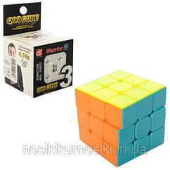 Кубик Рубіка 3*3*3 Qiyi Cube з матового кольорового пластику