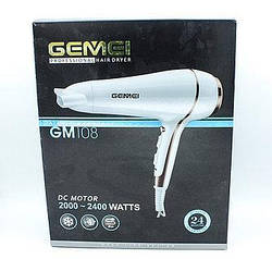 Фен для укладання волосся з насадкою Gemei GM108