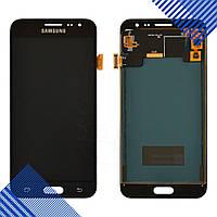 Дисплей для Samsung J320H DS Galaxy J3 (2016), с тачскрином в сборе, цвет черный, TFT c регулировкой