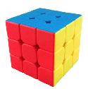 Кубик Рубика 3*3*3 Qiyi Cube из матового цветного пластика, фото 2