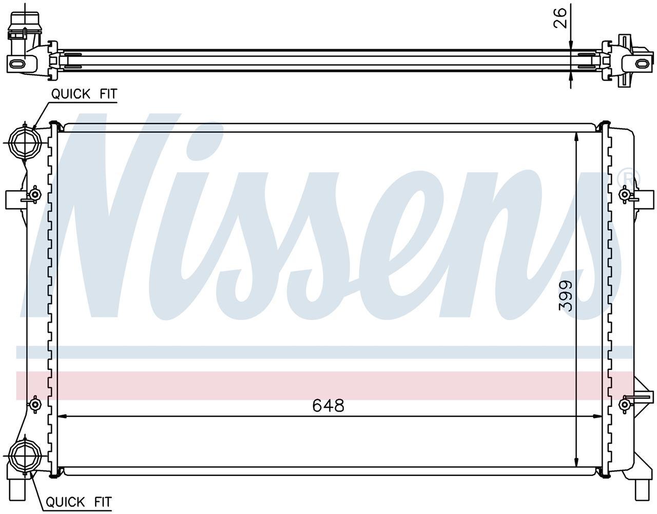 Радиатор охлаждения на VOLKSWAGEN GOLF V (1K) (03-) 1.4 i 16V