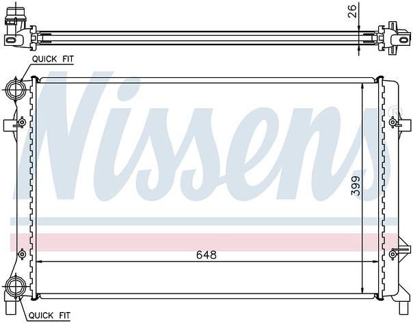 Радиатор охлаждения на VOLKSWAGEN GOLF V (1K) (03-) 1.4 i 16V, фото 2