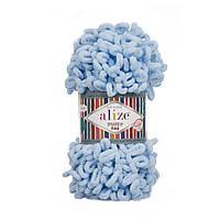 Alize puffi fine (пуффи файн) для вязания руками  - 218 голубой