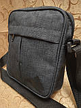 (Новый стиль)Барсетка adidas ткань катион матовый/Сумка спортивные мессенджер для через плечо Унисекс ОПТ, фото 2