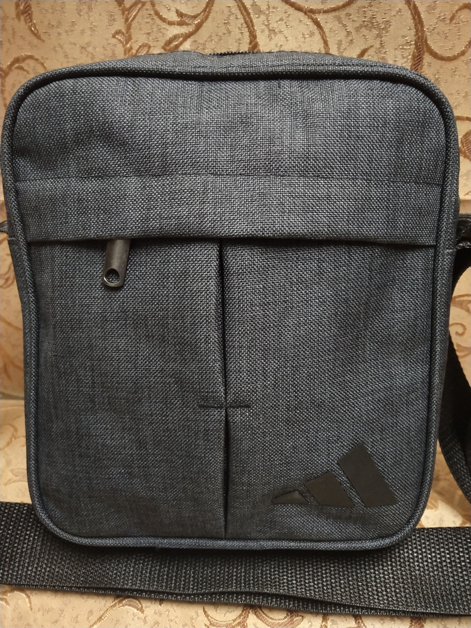 (Новый стиль)Барсетка adidas ткань катион матовый/Сумка спортивные мессенджер для через плечо Унисекс ОПТ
