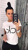 Трендовая женская  футболка из коттона, фото 1