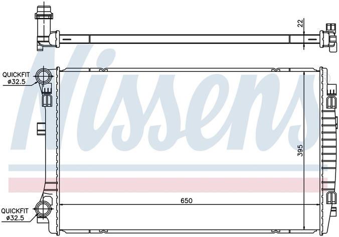 Радиатор охлаждения на VOLKSWAGEN GOLF VII (5G, BA, BE) (12-) 1.4 TSI, фото 2