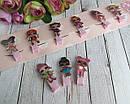 Детские заколочки для волос куклы LOL 5 см 10 шт/уп., фото 4