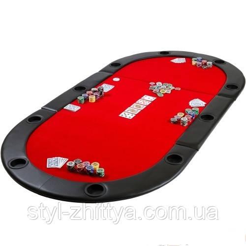 Blat do gry w pokera składny czerwony