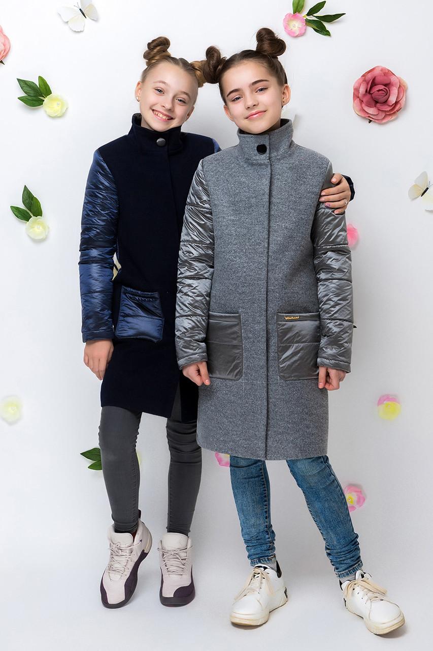 Детское пальто демисезонное для девочки vpd2 , размеры 134-164