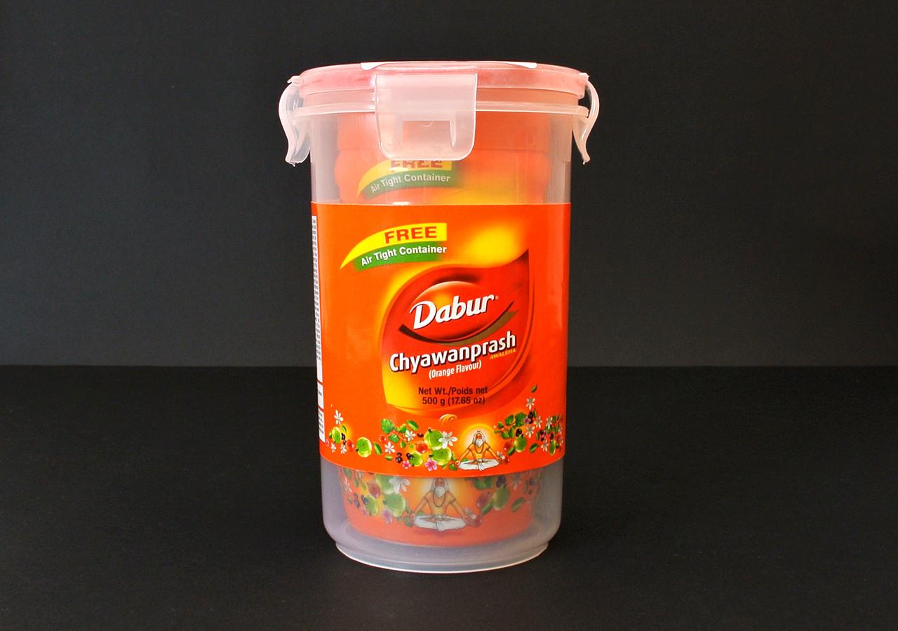Чаванпраш Апельсин 500 мл от Дабур (Chyawanprash Dabur Orange). Вакуумный контейнер в подарок!
