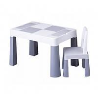 Набор детской мебели столик и стульчик Multifan Eco Tega Baby Grey