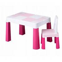 Набор детской мебели столик и стульчик Multifan Eco Tega Baby Pink