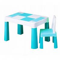 Набор детской мебели, столик и стульчик Multifan Eco Tega Baby Turkus