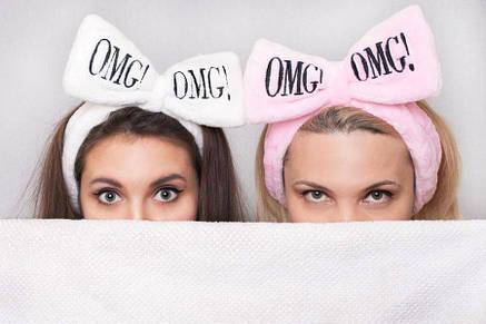 Повязка на голову косметологическая  белая OMG, фото 2