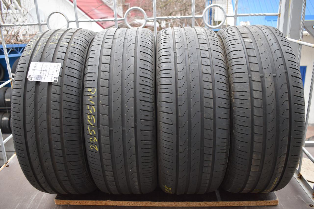 Летние шины б/у 235/55 R18 Pirelli, комплект, 6-7 мм, 2016 г.
